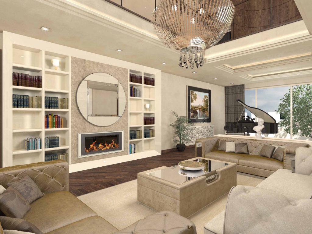 Progettazione interni di lusso stile italiano italian design for Disegni interni di case