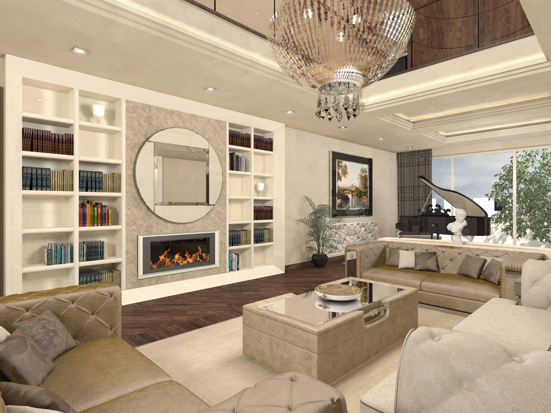 Progettazione interni di lusso stile italiano italian design for Progetti interni case